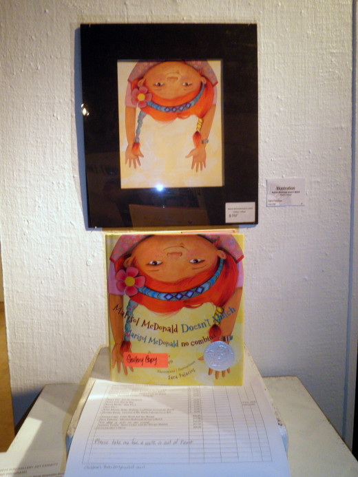 Original artwork by Sara Palacios featured in recent art show at the Sun Gallery in Hayward, Ca., where I work as an art teacher/guide
