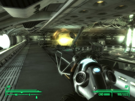 Fallout 3: Mothership Zeta. Probably not the best DLC for the game.