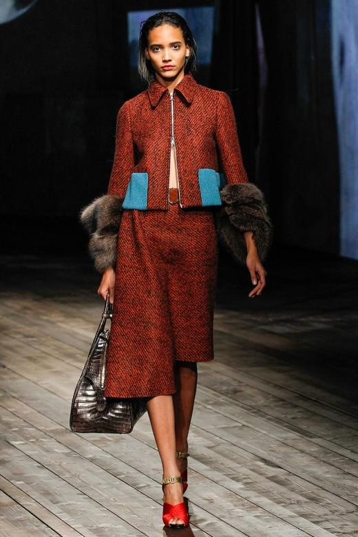 Prada, Model: Cora Emmanuel, Photo:Marcus Tondo