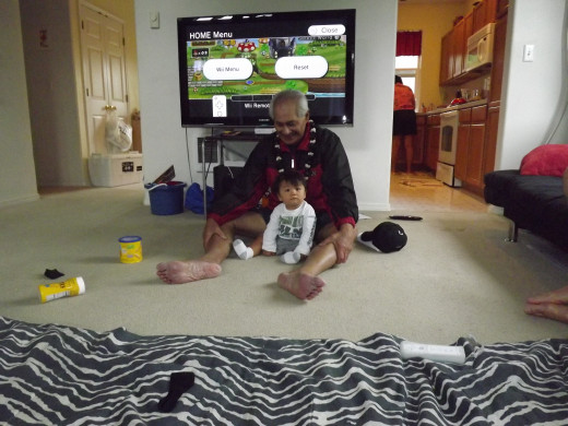 Dad with Great-Grandson, Kalaunuiohua
