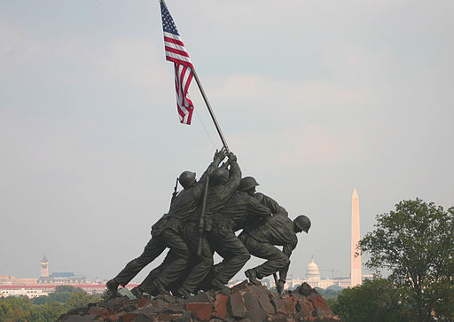 The Iwo Jima Memorial statue was larger than I expected.