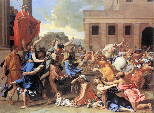Rape of the Sabine Women (1637–1639).