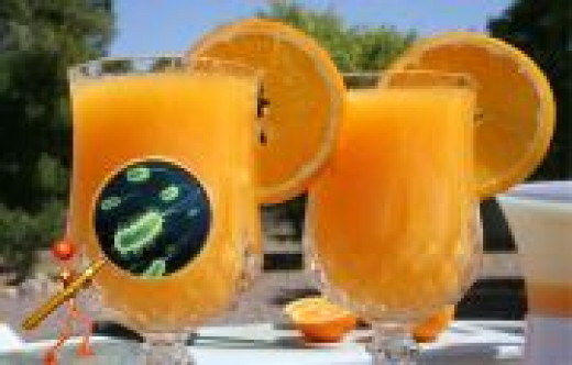University of Valencia Study found dangerous levels of bacteria in 43% of Orange Juice used at bars for drink mix.