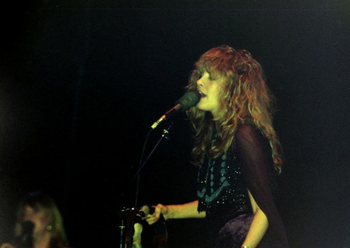 Stevie Nicks of Fleetwood Mac as a young woman.
