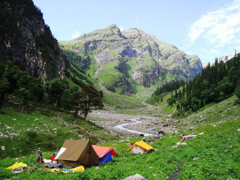A Camping site at the source of Beas or Beas Kund