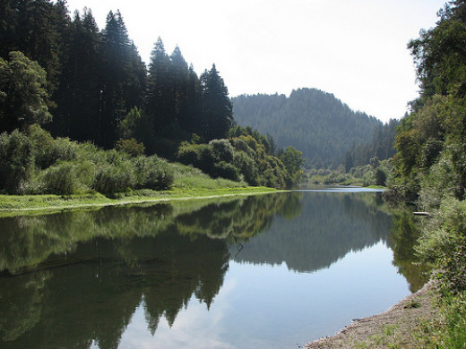 Morning on the Russian River near Sonoma County and Fort Ross.