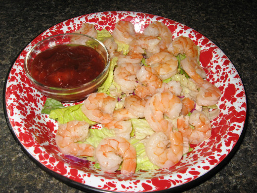 Leftover boiled shrimp can be used lots of different ways.