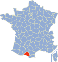 Map location of Ariège, France