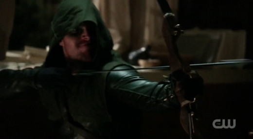 Oliver probably would have been better off shooting the assassin in the chest or face instead of just knocking the gun out of his hand.