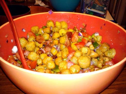 Crunchy & Delectable Fried Okra Salad