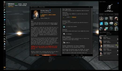 Glue mission details.