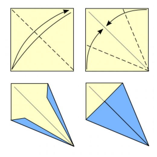 how to fold an origami kite base