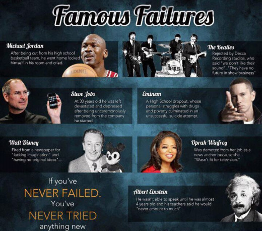 They learned how to learn from failure, instead of continuing to cry about it.  Where is that going to get you?
