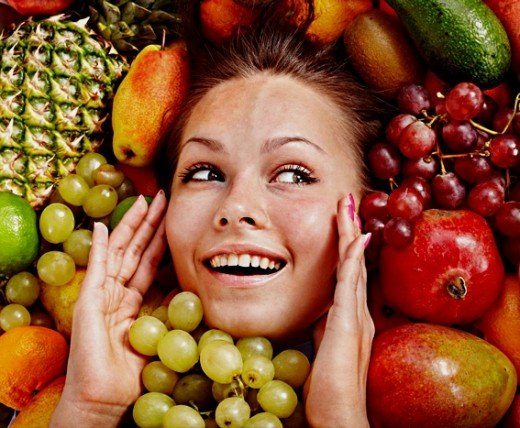 Fruit and Vegetables are Good for Skin