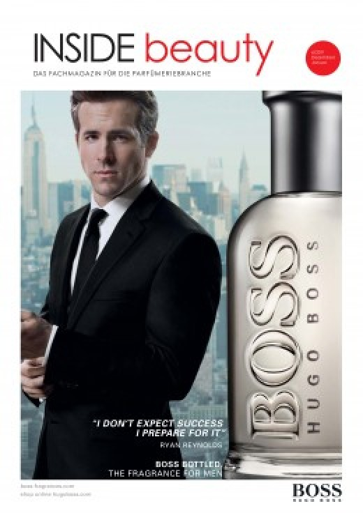 Flash-in-the-pan actor Ryan Reynolds posing for a Hugo Boss ad.