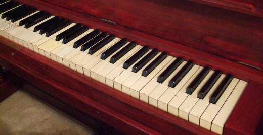 Classic upright piano.