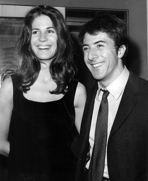 Dustin Hoffman and girlfriend