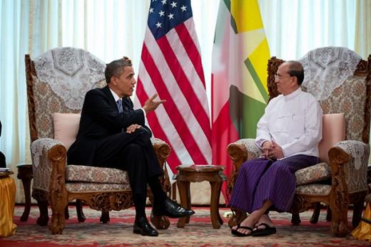 Obama with President Thein Sein
