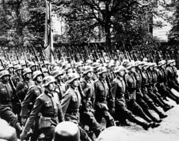 Why do they always goose step?