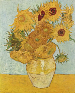 Yellow Sunflowers painted by Vincent Van Gogh