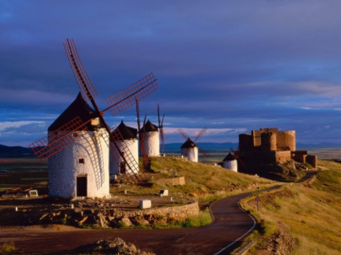 Windmills of La Mancha in Spain