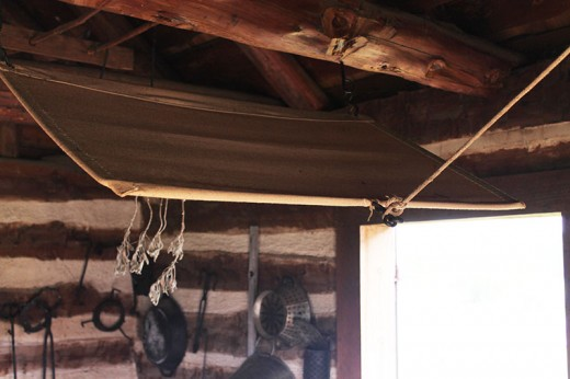 Another shoo fly device used in a log cabin