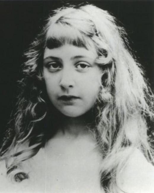 Agatha Christie as a girl.