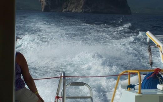 A ride on a catamaran.