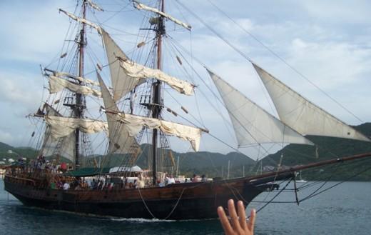 Take a pirate ship ride!