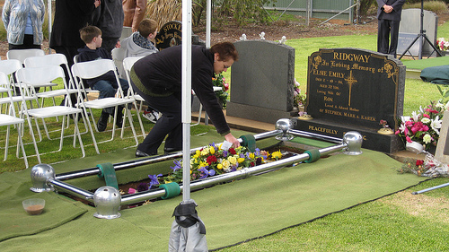 A traditional funeral in Australia