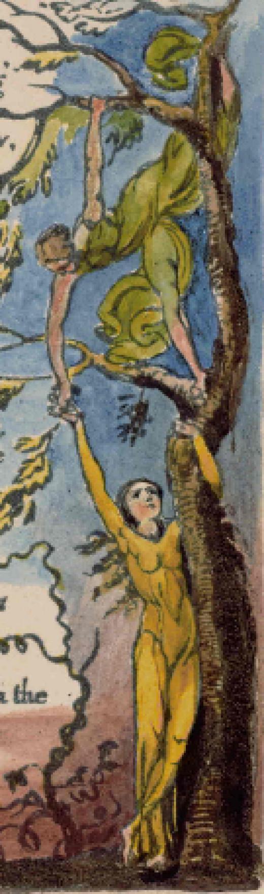 Illustration by William Blake; Public Domain Image.