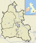 Map location of Oxfordshire, England