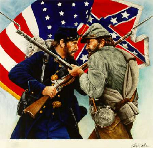 The American civil war was a war between the Northern states and the southern states.