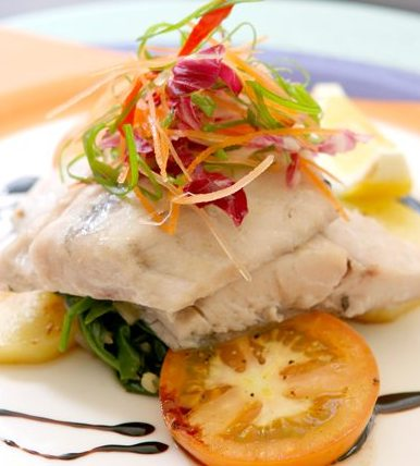Steamed Sea Bass With Superior Soy Emulsion