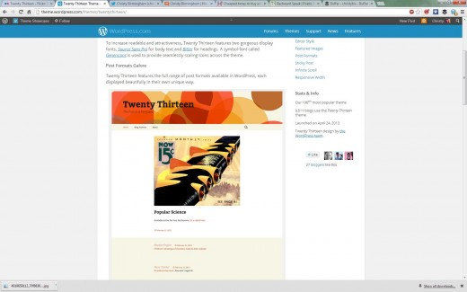 Print screen of WordPress weblog post.