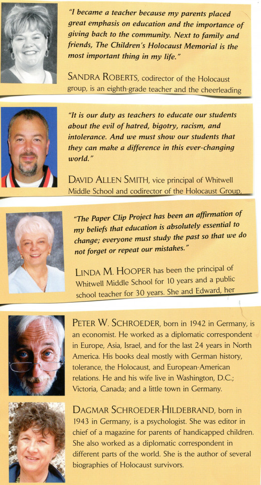 Quotes and  Information about the Teachers and Authors