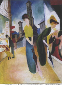 I love this August Macke Prints.  This piece shows women doing some window shopping.