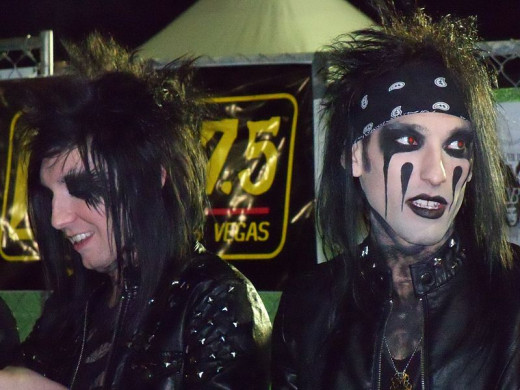 Current metal band (sort of metal, anyway) Black Veil Brides have adopted a look reminiscent of Motley Crue's Nikki Sixx so, in some ways, hair metal still lives on.