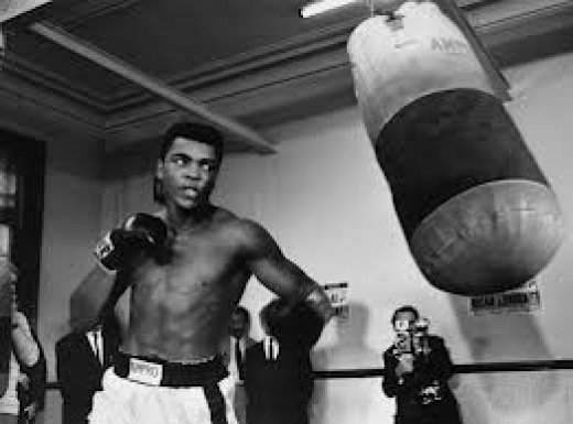 Muhammad Ali won a Gold medal in the Olympics and he won the heavyweight crown three times.