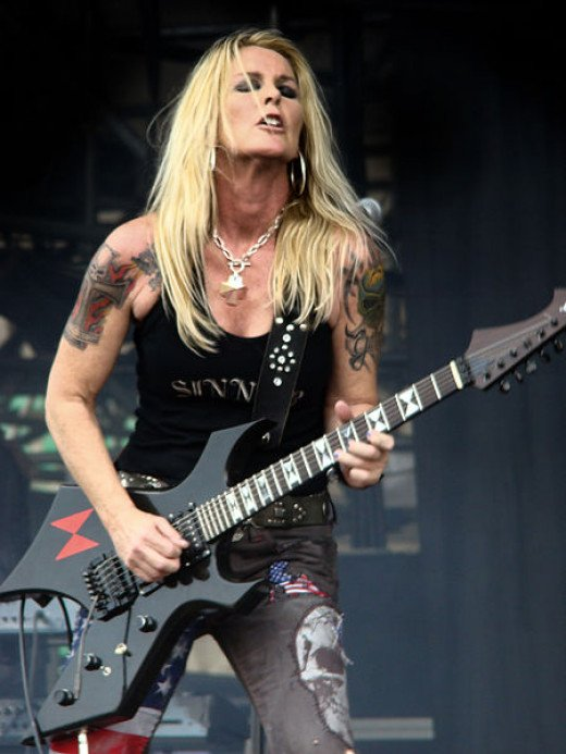 Lita Ford was one of the few females to make a name for herself in hair metal. She's also one of the few big names from that era still makng good records.