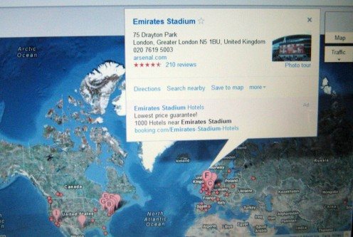 Arsenal Football Ground UK