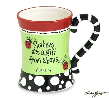 Colorful ladybird mug for Mom this Mother's Day.