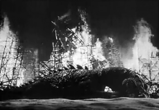 The Rhedosaurus meets its end.