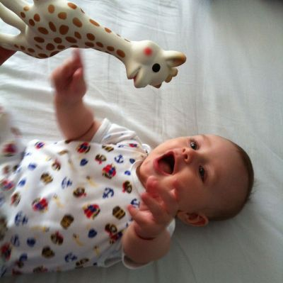 My baby is crazy for Sophie the Giraffe