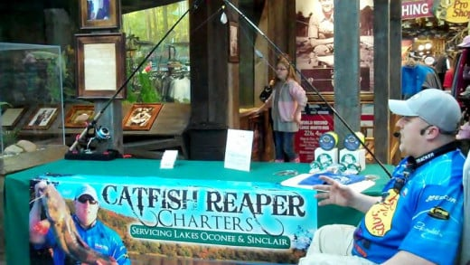 Jonathon Herndon  is speaking at Bass Pro Shops.  He does several clinics a year for Bass Pro teaching anglers how to catch catfish. He really enjoys helping people catch catfish!