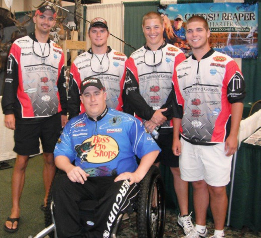 Jonathon Herndon and the UGA Fishing Team