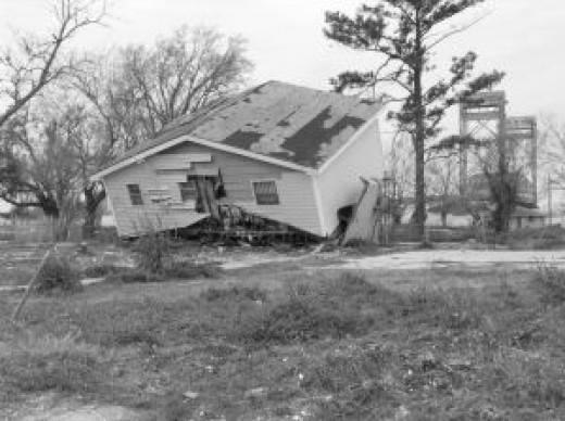 A home destroyed by a hurricane
