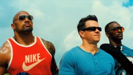 Dwayne Johnson, Mark Wahlberg and Anthony Mackie star as three ill-fated criminals in the hesit comedy action film Pain and Gain