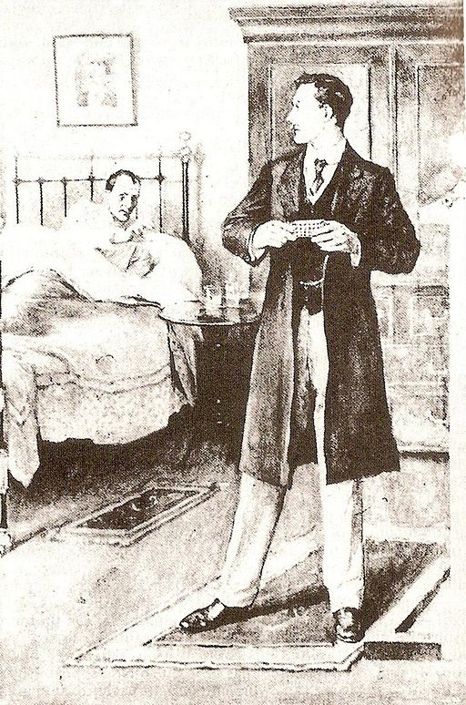Holmes faking his deathbed in The Adventure of The Dying Detective.
