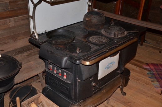 You're not likely to have to cook on a wood stove such as this one, but do remember that older people may enjoy more traditional dishes.